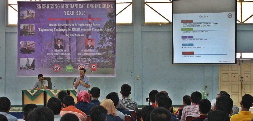 Ir. Benny Wendry, MM, Direktur Utama Semen Padang Beri Kuliah Umum Mahasiswa Universitas Bung Hatta