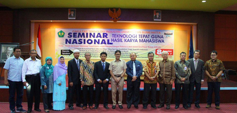 Gubernur Sumbar Buka Seminar Nasional I Teknologi Tepat Guna FTI Universitas Bung Hatta