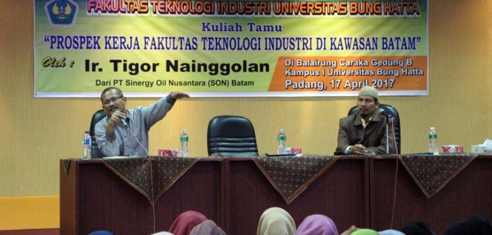 Teknik Kimia Universitas Bung Hatta Gelar Kuliah Umum Prospek Kerja Lulusan