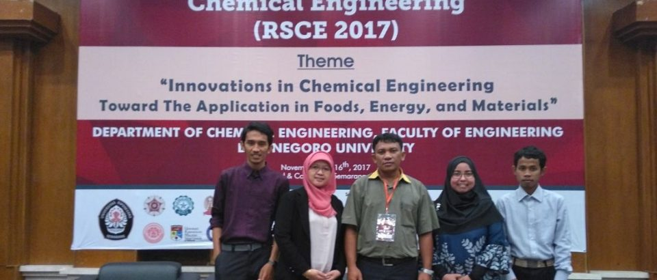 Dosen Teknik Kimia Universitas Bung Hatta Ikuti RSCE 2017
