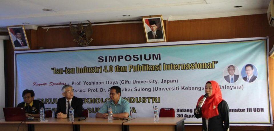 Simposium Isu-isu Industri 4.0 dan Publikasi Internasional di FTI UBH
