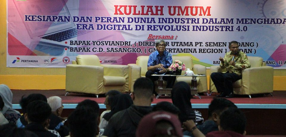 FTI Selenggarakan Kuliah Umum Bersama Dirut Semen Padang dan GM Pertamina Regional Medan