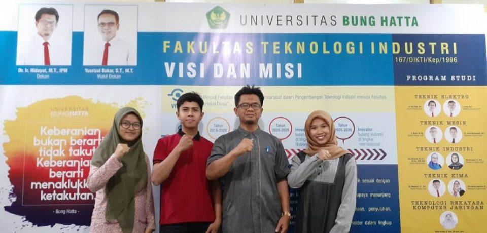 Mahasiswa FTI Universitas Bung Hatta Lolos Seleksi Program Magang Mahasiswa Bersertifikat (PMMB) di PT Semen Padang