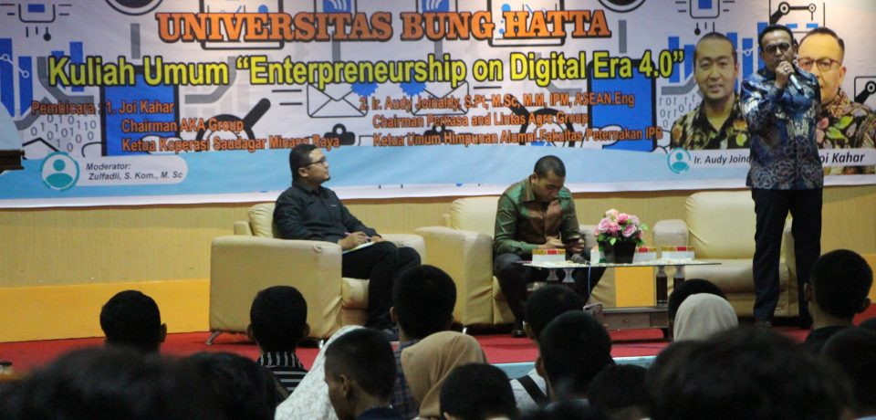 Fakultas Teknologi Industri (FTI) Kuliah Umum Bersama Dua Pengusaha Sukses Asal Minang
