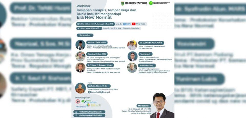 Webinar Kesiapan Kampus, Tempat Kerja Dan Dunia Industri Menghadapi Era New Normal