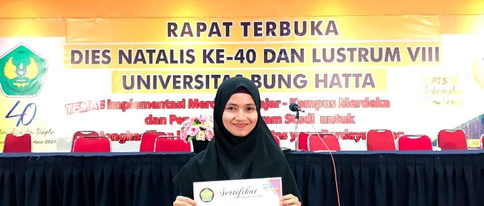 Khairunnisa, Peroleh Penghargaan Sebagai Mahasiswi Berprestasi Tingkat Fakultas